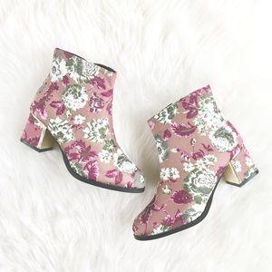"""""""Forsythe"""" Mauve Vintage Rose Gilded Ankle Boots"""